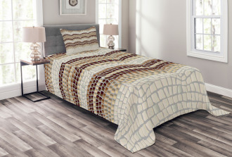 Antique Mosaic Effect Bedspread Set