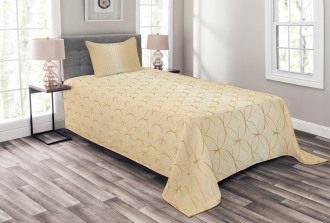 Geometric Gold Patterns Bedspread Set