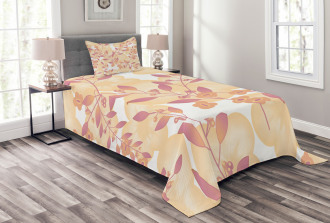 Floral Art Berry Pastel Bedspread Set