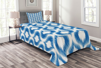 Blurry Damask Motifs Bedspread Set