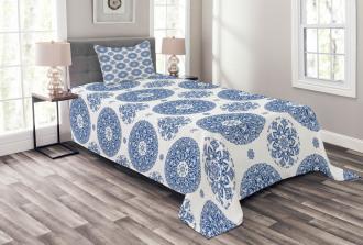 Vintage French Blue Bedspread Set
