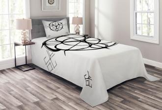 Swirled Spirals Bedspread Set