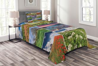 Summer Landscapes Rural Bedspread Set