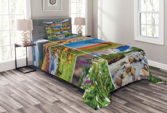 Springtime Countryside Bedspread Set
