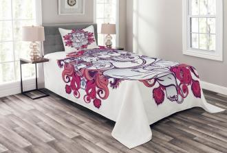 Elephant Eastern Style Bedspread Set