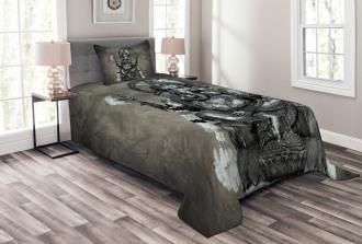 Elephant Ethnic Figure Bedspread Set