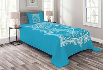Ancient Elephant Goddess Bedspread Set