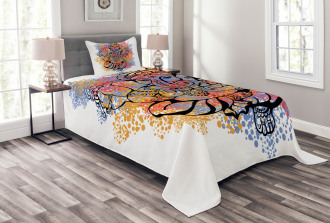 Eastern Elephant Artistic Bedspread Set