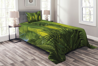 Palm Trees Exotic Bedspread Set