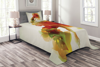 Girl Abstract Lady Bedspread Set