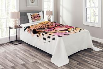 Modern Hipster Leopard Bedspread Set