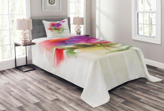 Blooming Orchid Pastel Bedspread Set