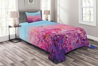 Cherry Spring Theme Bedspread Set