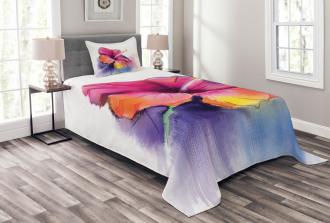 Hibiscus Flower Pastel Bedspread Set
