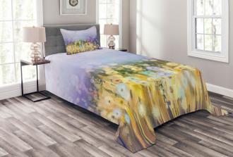 Idyllic Pastoral Flower Bedspread Set