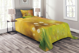 Oil Painting Effect Art Bedspread Set