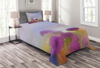 Onion Flowers Pastel Bedspread Set