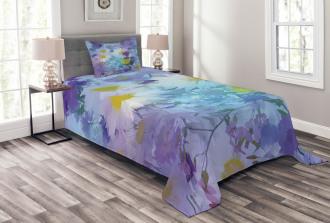 Vintage Flower Pastel Bedspread Set
