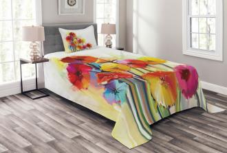 Gerbera Flower Romance Bedspread Set