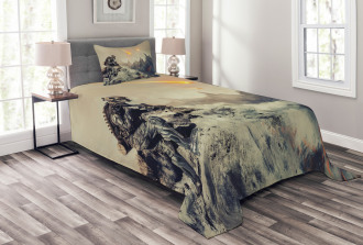 Technology Aliens Theme Bedspread Set
