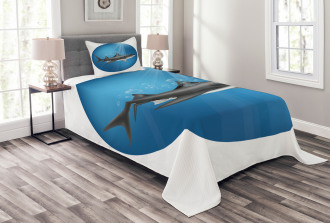 Shark Underwater Hunter Bedspread Set