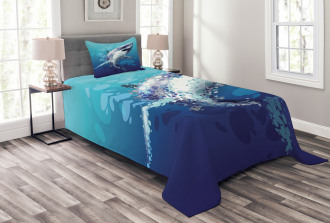 Shark Oceanlife Animal Bedspread Set