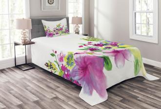 Watercolor Garden Bedspread Set