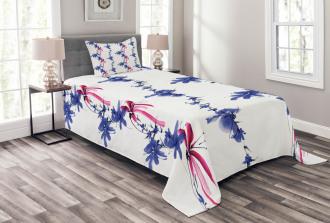 Native Asian Effect Bedspread Set