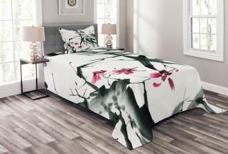Natural Spring Buds Bedspread Set