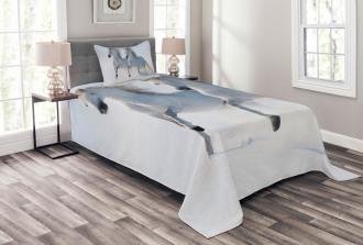 Wintertime Horse Animal Bedspread Set