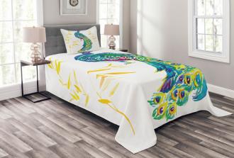 Floral Watercolors Art Bedspread Set