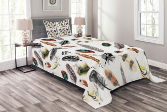 Vivid Feathers Vivid Art Bedspread Set