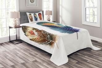Feather Tribal Bedspread Set