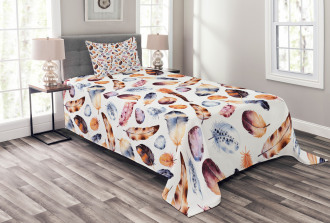 Peacock Feathers Kitsch Bedspread Set