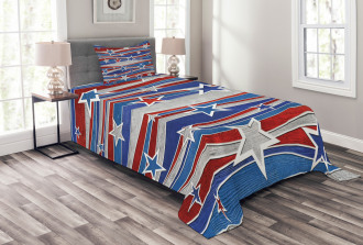 Abstract USA Flag Bedspread Set