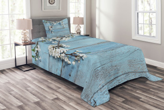 Spring Flowers Branches Bedspread Set