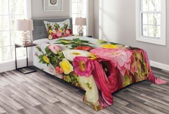 Rustic Home Rose Flowers Bedspread Set