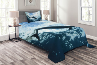 Swimming Dolphin Bedspread Set