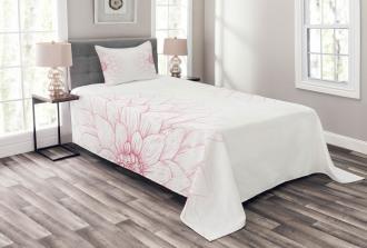 Pink Blossom Flower Bedspread Set