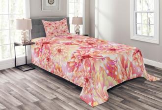 Dahlias Floral Bedspread Set