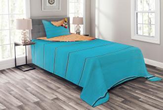 Latin Sombrero Bedspread Set