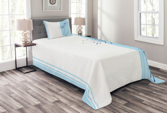 Vertical Long Lines Bedspread Set