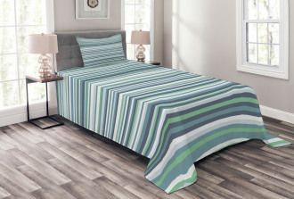 Abstract Narrow Band Bedspread Set