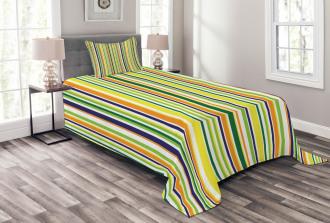 Vibrant Lines Pattern Bedspread Set