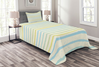 Grunge Pastel Pattern Bedspread Set