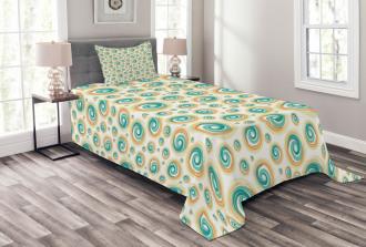 Spiral Circle Tile Bedspread Set