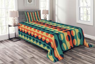 Half-Pattern Rings Bedspread Set