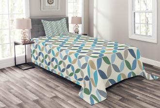 Oval Point Stripes Bedspread Set