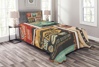 Grunge Funk Style Bedspread Set