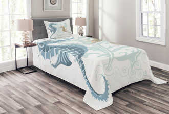 Fishes in Soft Tones Bedspread Set